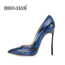 <b>2018</b> Women Pumps Snake Printing Leather <b>Super High Heels</b> ...