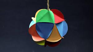 DIY <b>Christmas Decorations</b> - Multi-<b>Colored</b> Hanging Paper <b>Ball</b> ...