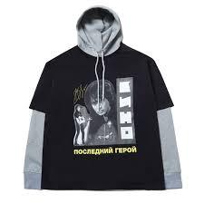 Толстовка с футболкой ZIQ & YONI x КИНО черная ... - Бордшоп#1