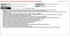 sle resume speech language pathologist for assistant speech    speech therapist