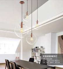 Newest Light <b>Nordic Glass Ball</b> Pendant Lighting Clear Bubble ...