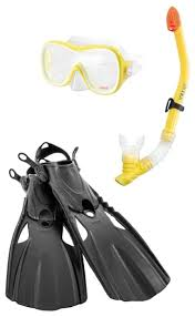 <b>Набор для плавания</b> с ластами Intex Wave rider sports — купить ...