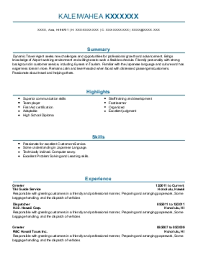 resume examples for hospitality industry  day coresume examples for hospitality