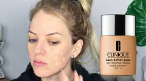 <b>CLINIQUE Even Better</b> Glow Foundation Review/Demo for ACNE ...