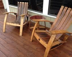 wine barrel adirondack craftsman napa valley wine barrel adirondack chair indoor outdoor furniture arched napa valley wine barrel