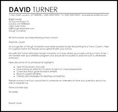 track coach cover letter sample track coach cover letter