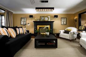 flag black beige living room