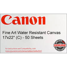<b>Canon</b> Fine <b>Art Water Resistant</b> Canvas for Inkjet