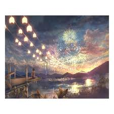40x50cm Fireworks Scenes <b>DIY Painting By</b> Numbers Kits Acrylic ...