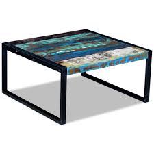 vidaXL <b>Coffee Table</b> Desk Stand <b>Solid Reclaimed Recycled</b> Wood ...