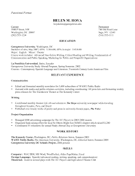 sample of functional resume   seangarrette co  functional resume sample x   sample of functional resume