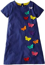 VIKITA Little Girls Dresses Casual Cute Animal <b>Print</b> Kids Clothing 1 ...