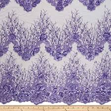 Ben Textiles Fiesta Floral with <b>Pearls Lace</b> Fabric, <b>Lavender</b>, Fabric ...