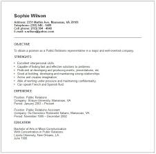 public relations resume example   free templates collectionpublic relations resume example