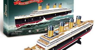 T0423 3D Puzzles Titanic ship DIY Paper Model kids Creative gifts ...