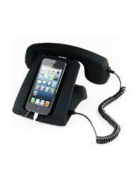 Ретро телефон к мобильному устройству (черный) Склад ...