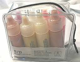 S/B Makeup <b>Starter</b> Set Blushes & Highlighters <b>Temptu Pro</b> in Case ...