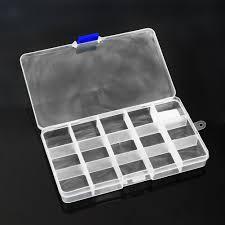 <b>24 Grid</b> Plastic <b>Storage</b> Box Beads Organizer Adjustable Slots 7 ...