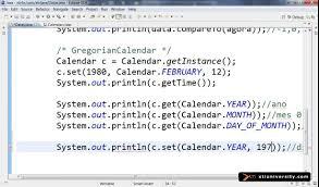universidade xti curso online java aula date calendar universidade xti curso online java aula 069 date calendar get set clear add e roll