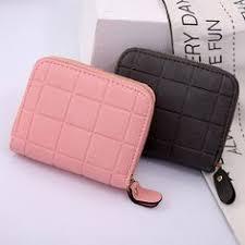 Women Leather <b>Short</b> Trifold <b>Wallet Korean</b> Fashion Envelopes ...