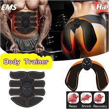 <b>Smart EMS Wireless</b> Electric Muscle ABS Stimulator Abdominal Hip ...