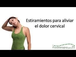 Resultat d'imatges de estiramiento de cervicales