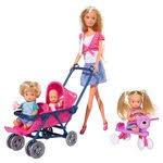 «Simba Игровой набор с <b>куклой Штеффи</b> с коляской цвет ...