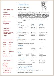 acting resume template   build your own resume now  acting resume sample  download now