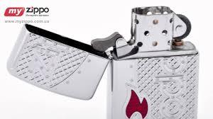 <b>Зажигалка Zippo Flame</b> Emblem Armor High Polish Chrome 24801 ...