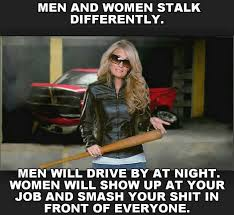 Men and women stalk differently - meme   Funny Dirty Adult Jokes ... via Relatably.com