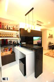 modern ngid studio the top of the extended bar counter cabinet actually serves as an additional food preparation or