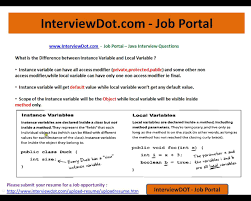java interview question and answers instance variable and local java interview question and answers instance variable and local variable in java difference