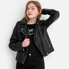 <b>Куртка</b> в байкерском стиле, 10-16 лет черный <b>La Redoute</b> ...