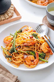 <b>Japanese</b>-<b>style</b> Pasta with Shrimp and Broccolini 海老と ...