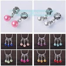 <b>10pcs</b> Pearl Pendant Loose <b>Spacer Beads</b> Fit Charm <b>European</b> ...