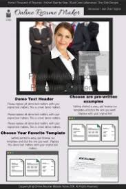 customizable design templates for online resume maker website    online resume maker website template