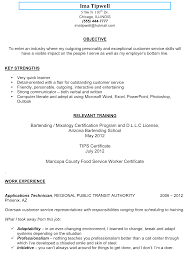 objective bartending resume objective bartending resume objective pictures
