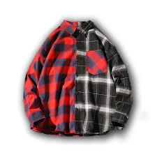2019 <b>Loldeal</b> Splice <b>Plaid Shirts</b> Men <b>Checkered Shirt</b> New Fashion ...