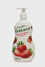 """Крем-<b>мыло жидкое</b> """"<b>Клубничный</b> мусс"""" <b>EcoLand</b> 950 мл, в ..."""