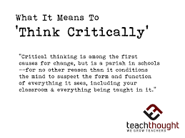 What does critical thinking mean to you   www yarkaya com