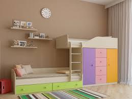 Двухъярусная кровать со шкафом Астра-6 купить в Москве в ...