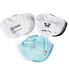 Newborn Cotton <b>baby bibs</b> panda absorbent cloth baby stuff ...