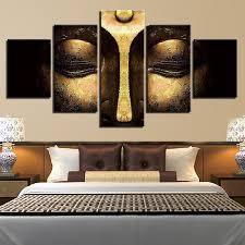 Posters Home Decor <b>5 Piece</b> Pcs Copper Buddha <b>Framework HD</b> ...