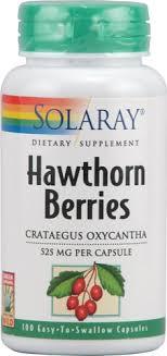 Solaray <b>Hawthorn</b> Berries -- <b>525 mg</b> - 100 Capsules - Vitacost
