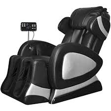 Luxurious Massage Chair for Relaxation <b>Black Electric Artificial</b> ...