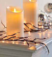 more twig lighting for the mantel i know bed bath and beyond has them bed bath and beyond lighting