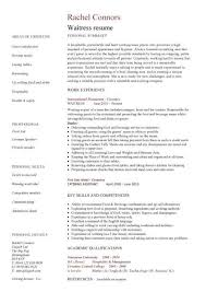 hospitality cv templates able hotel receptionist  waitress cv waitress resume