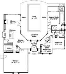 images about Courtyard Homes  home sweet home  on Pinterest    First Floor Plan of Mediterranean House Plan
