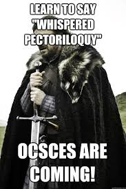 "learn to say ""Whispered pectoriloquy"" ocsces are coming! - Winter ... via Relatably.com"