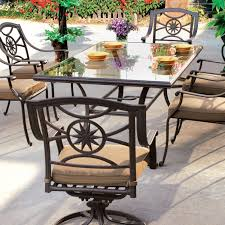 patio table and 6 chairs: glass patio table and chairs set